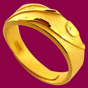 刻劃戒-黃金男士金飾
