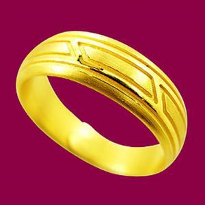 征服戒-黃金男士金飾