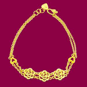 玫瑰戀曲-黃金手鍊