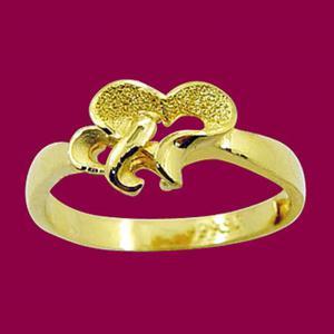 甜蜜雙心-黃金戒指