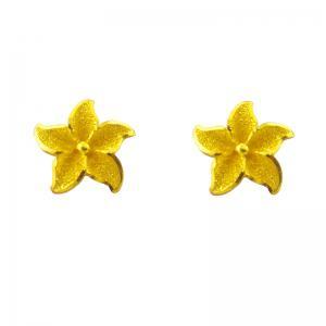 幸福花季-黃金耳環