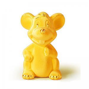 可愛生肖鼠-黃金金飾禮品