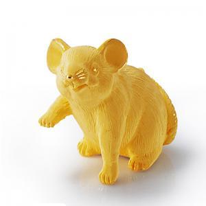 寫實生肖鼠-黃金金飾禮品