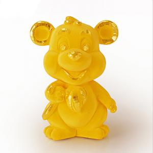 俏皮生肖鼠-黃金金飾禮品