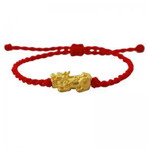 招財貔貅紅線-黃金手鍊