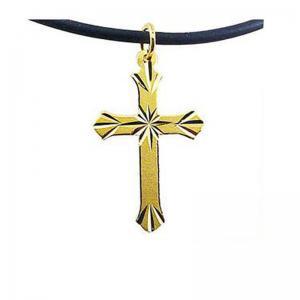 聖禮-黃金十字架金飾墜鍊