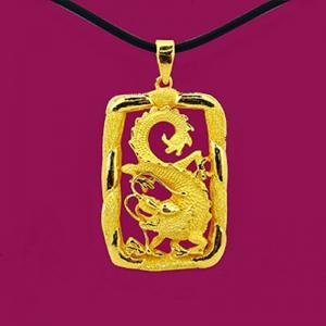 一條龍墜-黃金男士金飾