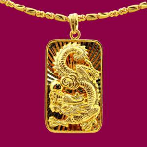 祥龍福墜鍊(約15.86錢)-黃金男士金飾