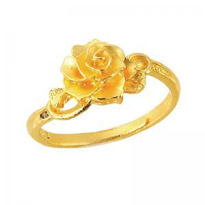 玫瑰迴廊-黃金戒指